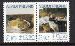 Finland Sc B244 1991 Paintings stamp set mint NH