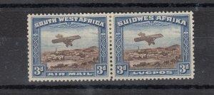 South West Africa 1931 3d Bi-Lingual Airmail SG86 MH JK407