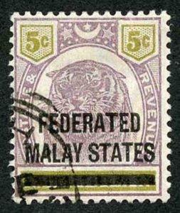 Malay States SG4 Malay States on 5c Negri Sembilan