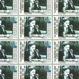 Chaplin Gold Rush movie cinema film URUGUAY #1860 MNH full sheet cat. Value $125