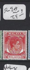 MALAYA  MALACCA   (PP2303B)  KGVI 12C    SG 9A   MOG