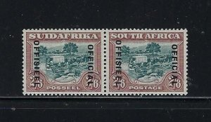 SOUTH AFRICA SCOTT #O20 1930-47 OFFICIA 2/6)- PAIR- MINT LIGHT HINGED
