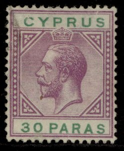 CYPRUS GV SG87, 30pa violet & green, FINE USED.