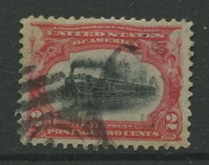 STAMP STATION PERTH USA #295 Pan American Expo 1901 Used CV$1.00.