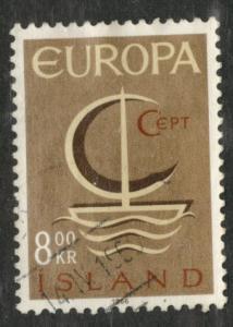 ICELAND Scott 375 used 1966 Europa stamp