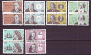 J19000 Jlstamps 1979 germany DDR set pairs mnh #1994-99 famous germans