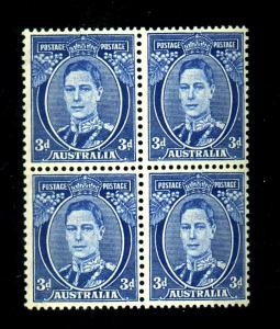 Australia #170 MINT Block F-VF OG LH/HR Cat $230