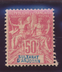 Anjouan Stamp Scott #16, Mint Hinged, Remnant, Original Gum With Light Crackl...