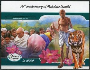 SIERRA LEONE  2018 70th MEMORIAL ANNIVERSARY MAHATMA GANDHI  S/S MINT NH