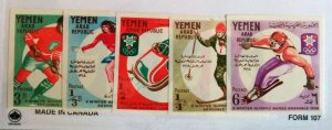 """EXTREMELY RARE YEMEN 1968 OLYMPIC GAMES """"IMPERF PROOF SET"""" MNH UNIQUE"""