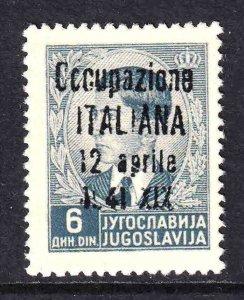 YUGOSLAVIA 149 OCCUPATZIONE ITALIANA OVERPRINT OG NH U/M F/VF BEAUTIFUL GUM