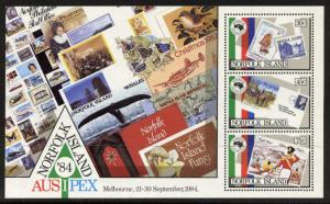 Norfolk Island 346a MNH Stamp on Stamp, Ship, Aircraft