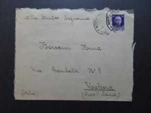 Somalia SC# 137 (1 On Back Untied) On 1932 Cover to Voghera / see notes - Z10310