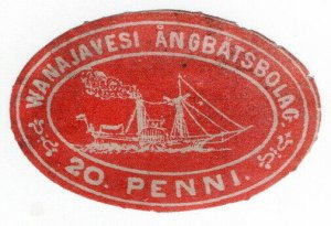 (I.B) Finland Local Post : Wanajavesi Steamship Company 20p