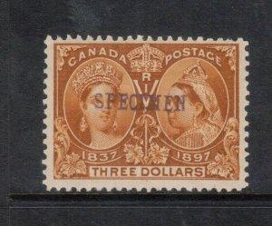 Canada #63SP Very Fine Mint With Specimen Overprint Full Original Gum Hinged