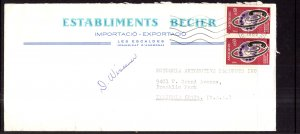 Andorra French to Franklin Park,IL 1969 Cover