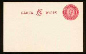 IRELAND Mi. P2c UNUSED POSTAL STATIONERY POST CARD