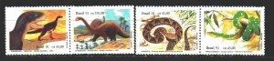 Brazil. 1991. 2415-18. Dinosaurs, snakes. MNH.