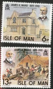 Isle of Man Scott 137-8 MNH** 1978 Architect set
