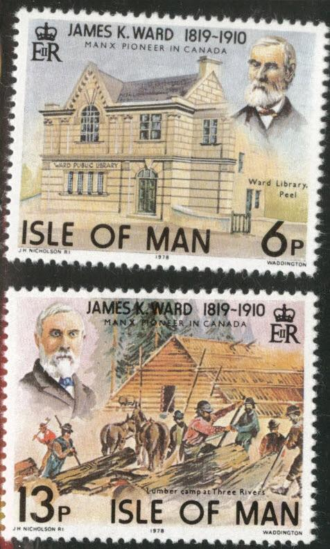 Isle Of Man MNH 137-8 James Ward Manx Pioneer 1978