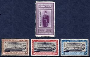 EGYPT — SCOTT 121-124 — 1926 PORT FOUAD OVERPRINT SET — MH — SCV $2,250