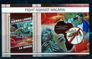 SIERRA LEONE 2018 FIGHT AGAINST MALARIA  SOUVENIR SHEET  MINT NEVER HINGED