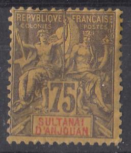 Anjouan 18 SG 12 MHR F/VF 1892 SCV $37.50