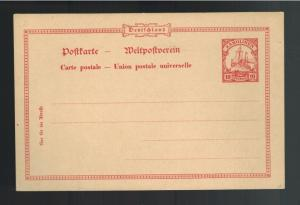 Early 1900's Germany Caroline Islands Mint Postal Stationary Postcard Cover