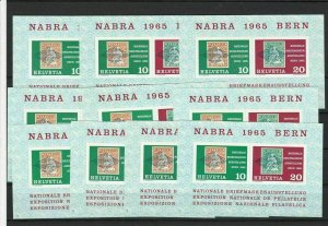 Switzerland 1965 10 Mint Never Hinged Stamps Sheets Ref 27282