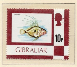 Gibraltar 1977 QEII Early Issue Fine Mint Unmounted 10p. NW-99231