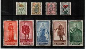 Belgium Scott B468-76 Mint hinged (Catalog Value $71.45)