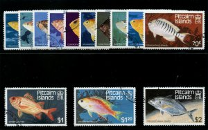 Pitcairn Islands 1984 QEII Fishes set very fine used. SG 246-258. Sc 231-243.