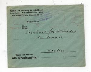 1948 Vienna Austria Cover to Berlin Germany Judaica Israelite Committee