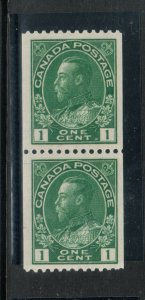 Canada #131ii Extra Fine Never Hinged Coil Pair