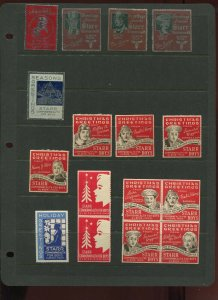 28 VINTAGE ALBION MICHIGAN STARR BOYS HOLIDAY GREETINGS POSTER STAMPS (L1216)
