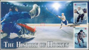 CA17-051, 2017, History of Hockey, Dual Stamps, Day of Issue, FDC