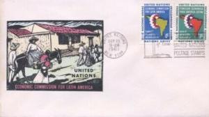 UN #93/94 ECONOMIC LATIN AMERICA - Overseas Mailer