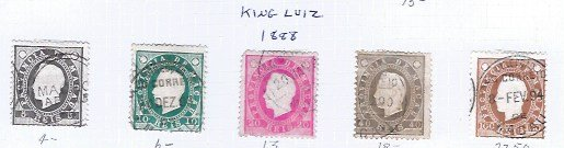 MACAO EARLY ISSUES 1888 KING LUIZ SCV $63.50 @14% OF CAT VALUE
