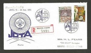 1971 Portugal Boy Scout XIV Jamboree on Air JOTA Porto registered