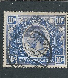 KUT 1922-27 10s BRIGHT BLUE FU SG 94 CAT £75