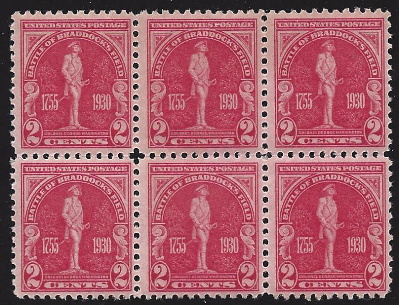 688 Mint,OG,NH... Block of 6... SCV $8.40