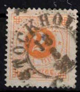 Sweden - SG29 - 2ö Ringtyp w. blue posthorn on back CV 8.75£ (approx 10€)