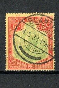 Nyasaland - Nyasaland Protectorate 1929 5s FU CDS
