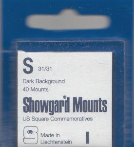 SHOWGARD BLACK MOUNTS S 31/31 (40) RETAIL PRICE $3.95