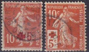 France #B1-2 Used CV $7.50 (Z5288)