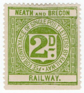 (I.B) Neath & Brecon Railway : Letter Stamp 2d
