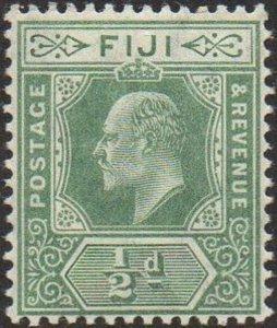 Fiji 1908 ½d green MH