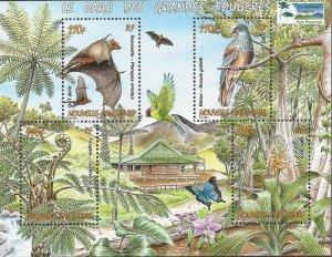 New Caledonia - 2010 Flora & Fauna of Grandes Fougeres Park - 4 Stamp Sheet