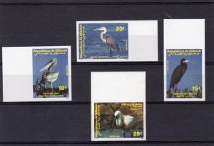 Benin 1989 WWF BIRDS set (4) Perforated Mint (NH)