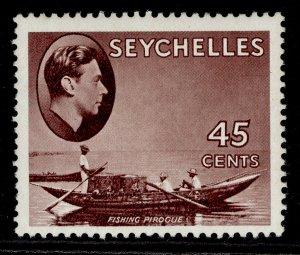 SEYCHELLES GVI SG143a, 45c purple-brown, M MINT.